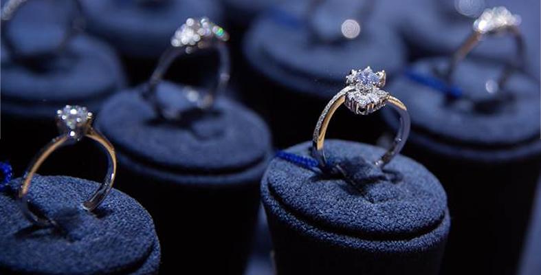 Diamond Engagement Rings on Display