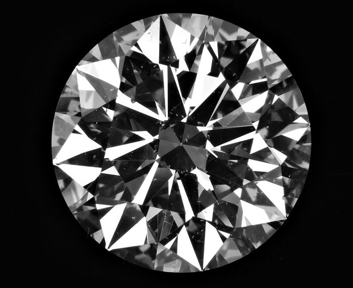 Diamond Semstone with Black Background