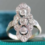 Antique Art Deco Navette Ring