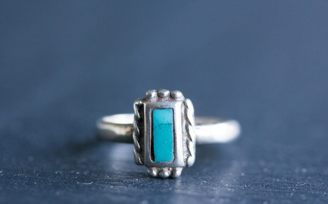Southwestern inspired Turquoise ring