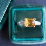 Citrine + Diamond ring