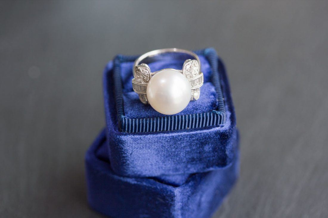 Darling Pearl and Diamond ring