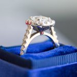 UNIQUE RADIANT CUT ENGAGEMENT RING