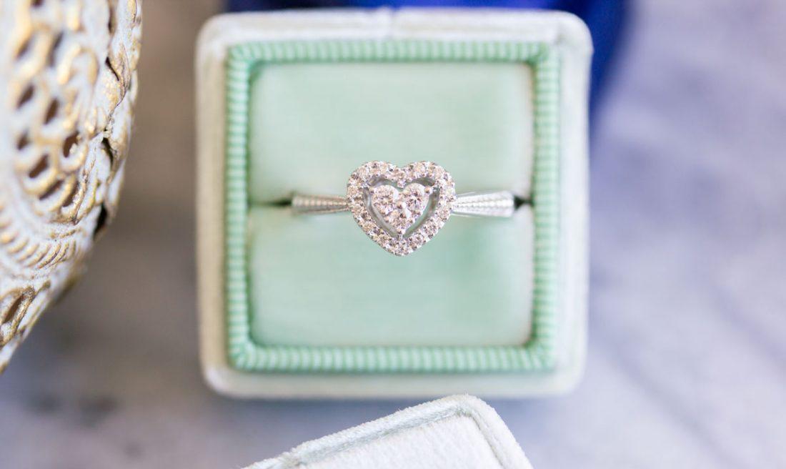 Sweet heart Diamond ring