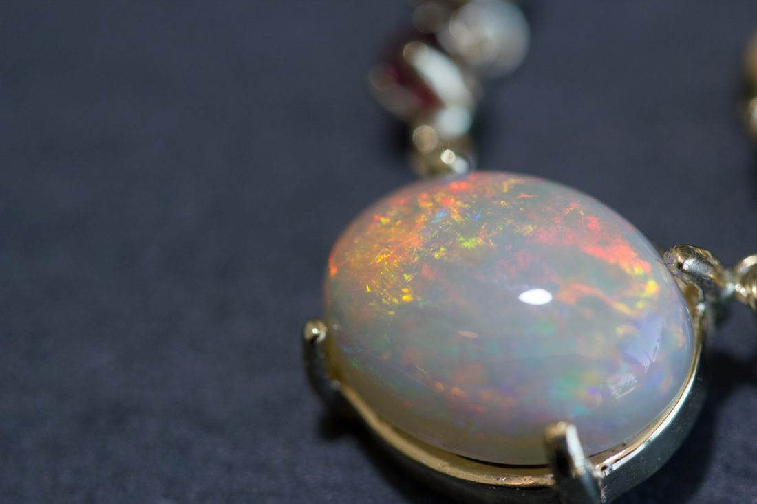 Opal + Ruby necklace