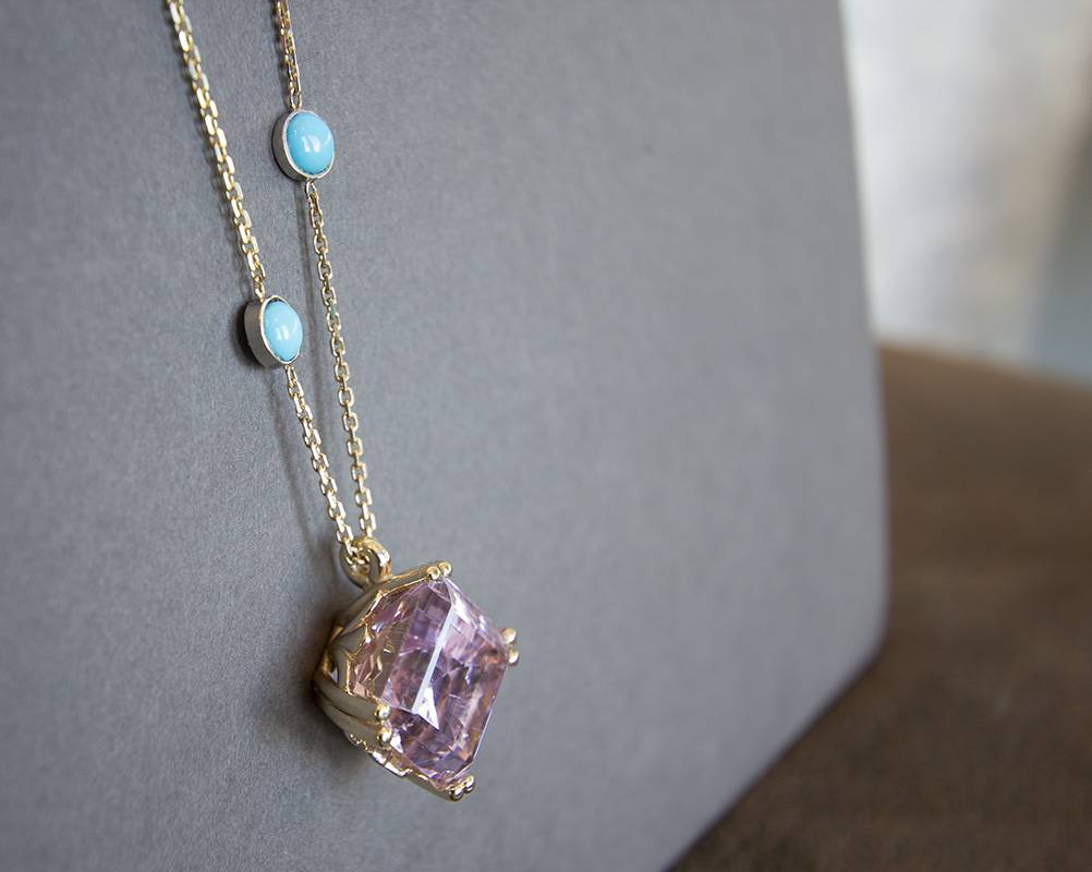Kunzite Custom Necklace
