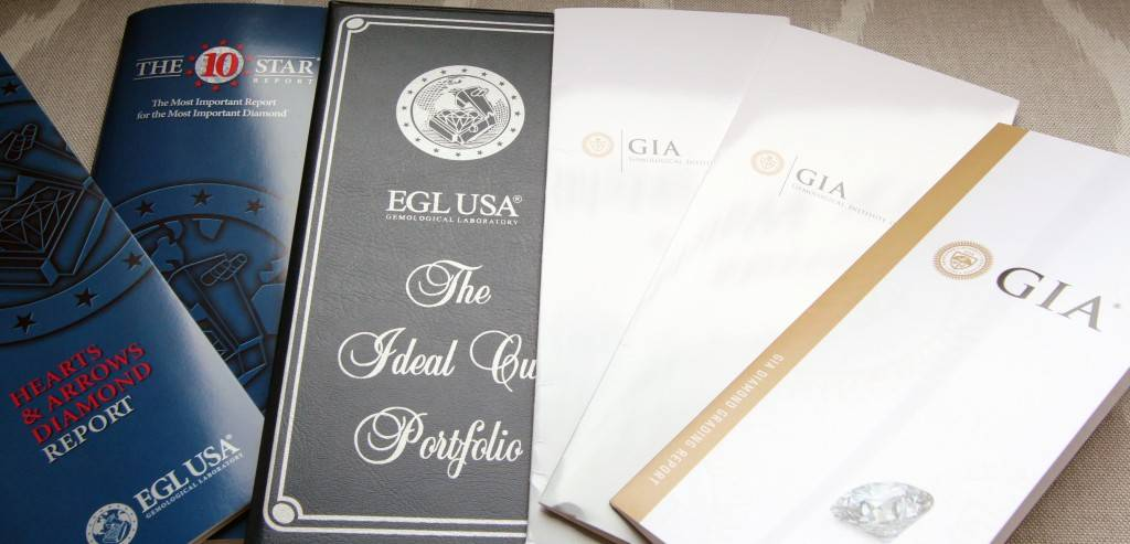 Gia and Egl Diamond Grading Information Brochures