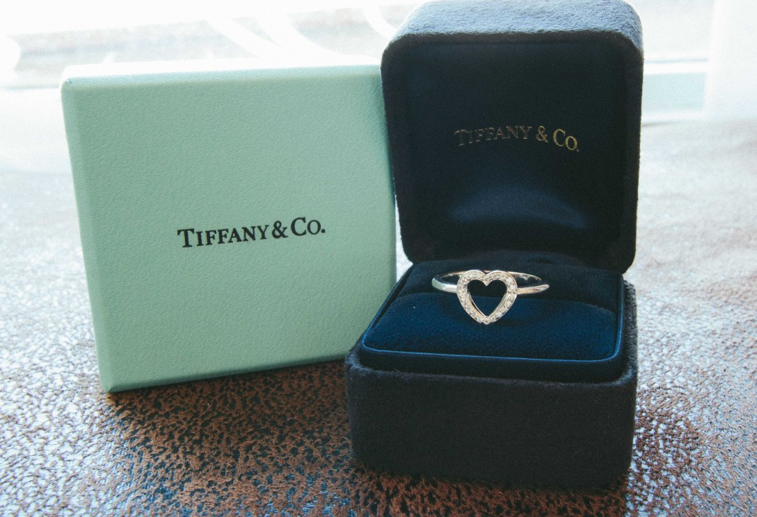 Tiffany & Co. Heart Ring in Case