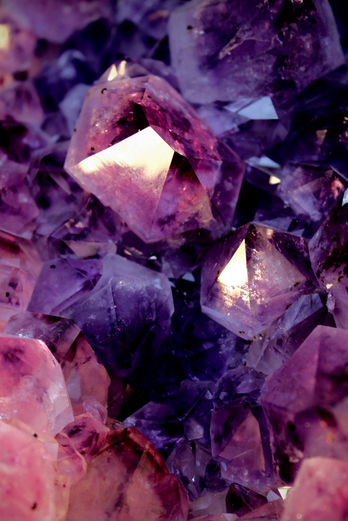 Purple Amethyst Colored Gemstone Crystals